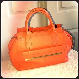 Brahmin Satchel Crossbody Orange (papaya/mango)